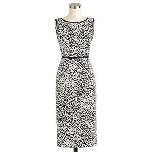 J.CREW COLLECTION LEOPARD TWEED DRESS